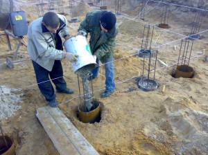 заливка бетоном буронабивных свай