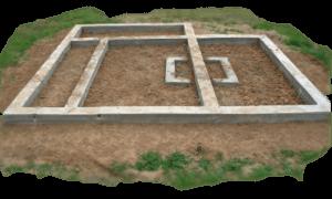 Плиточный фундамент для печи